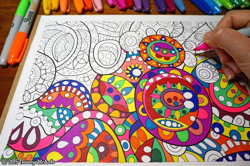 Abstract Coloring Page By Thaneeyaw800h532